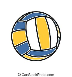 volleball ball - Vector illutration of the volleball ball