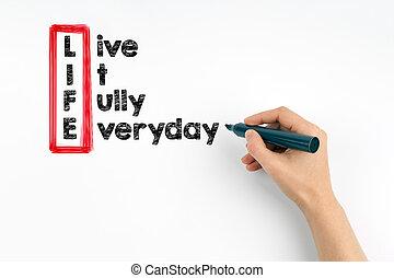 volledig, alledaags, leven, leven, informatietechnologie