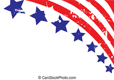 volledig, editable, amerikaan, illustratie, vlag, vector,...