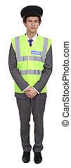 volledige lengte, veiligheidsman