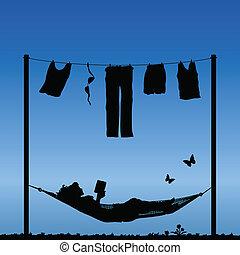 vollenden, wäsche