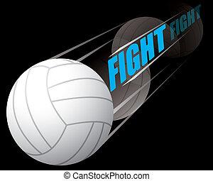volley-ball, baston