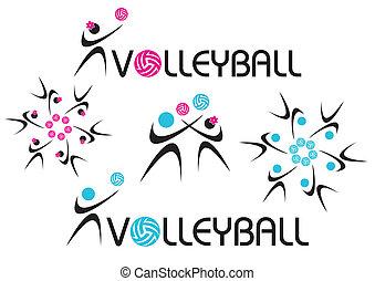 volley-ball, icône