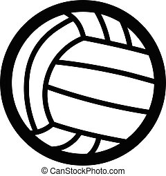 Volley Ball Icon - Volley ball icon isolated on white