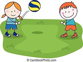 Volley ball kids