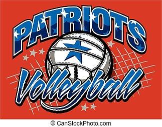 volley-ball, patriotes