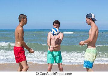 volley-ball, tengerpart
