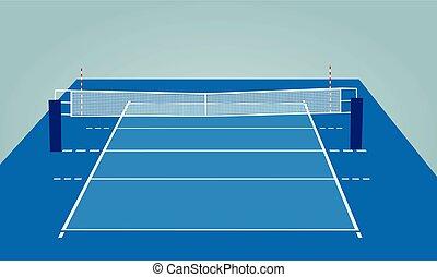 volley-ball, tribunal