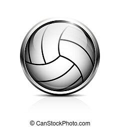 volley-ball, vecteur, icône
