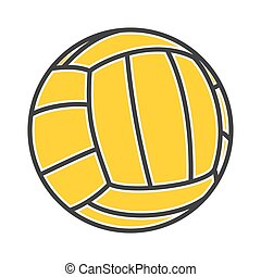 volley-ball, vecteur, illustration, balle