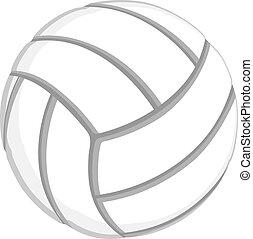 white volleyball
