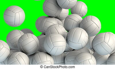 Volley balls transition effect