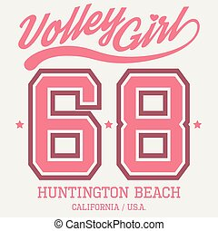 Volley Girl T-shirt Typography