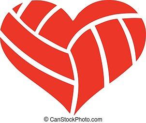 volleybal, hart