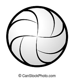 Volleyball abstract silhouette