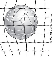 Volleyball and Net - Volleyball and net illustration in...