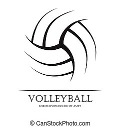 Volleyball background ball - Black volleyball ball...