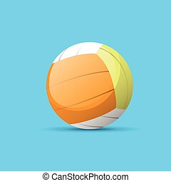 volleyball ball color flat icon vector
