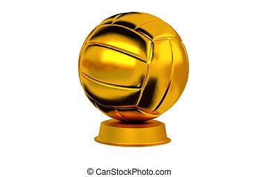 Volleyball ball Golden Trophy