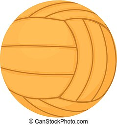 Volleyball ball icon, cartoon style