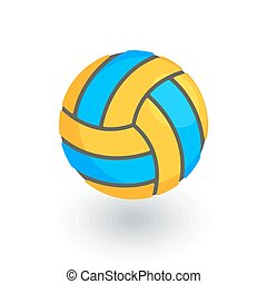 volleyball ball isometric flat icon. 3d vector