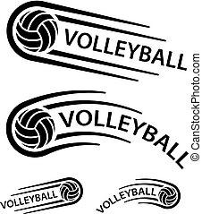 volleyball ball motion line symbol
