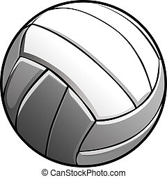Volleyball Ball Vector Image Icon - Vector Image of a...