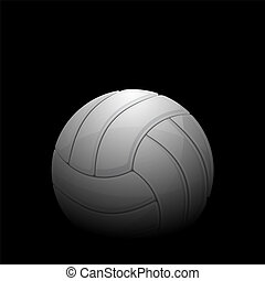 Volleyball black background