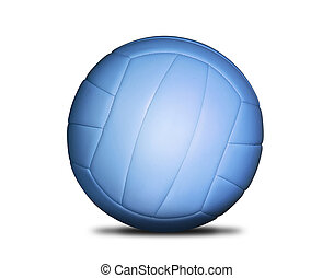 Volleyball blue ball isolated on white background