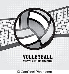 volleyball design - volleyball sport over dotted background...