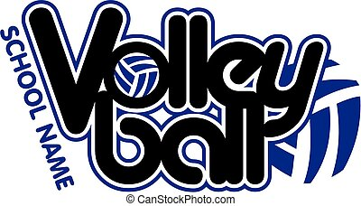 volleyball design - graphic team volleyball design with ball
