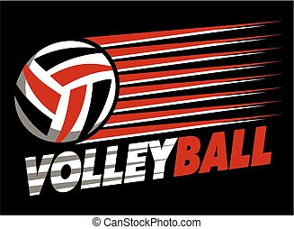 volleyball design - graphic volleyball design with lines...