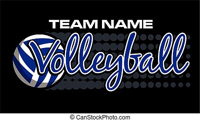 volleyball design - team name volleyball design with dots...