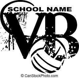 volleyball design - distressed team volleyball design with...