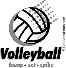 volleyball design with ball