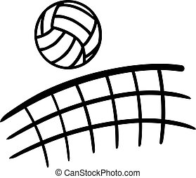 volleyball, flyve hen, netto