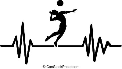 Volleyball heartbeat pulse