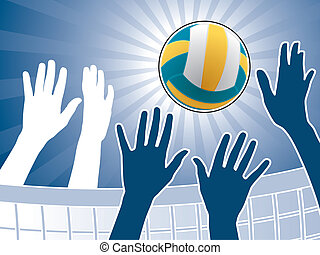 Illustration for volleyball competition poster