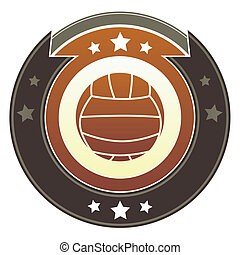 Volleyball imperial button