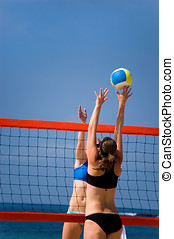 Volleyball in Beach