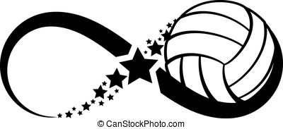 Volleyball Infinity - The infinity symbol with a ball in the...