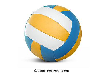 Volleyball isolated over a white background