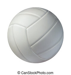 Volleyball Isolated - Volleyball isolated on a white...