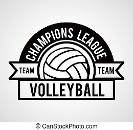 volleyball league design - volleyball league design, vector...