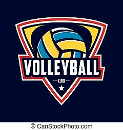 volleyball, logo