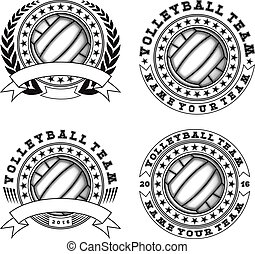 volleyball, logo, satz