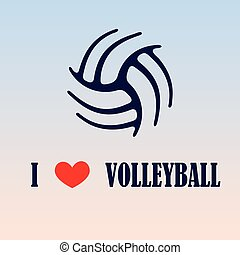 Volleyball love background