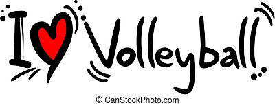 Volleyball love - Creative design of volleyball love