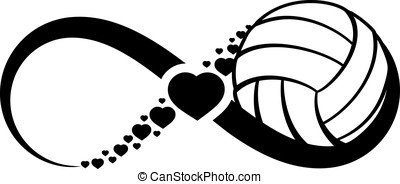 Volleyball Love Infinity - Infinity symbol with a volleyball...