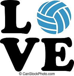 Volleyball Love with ball